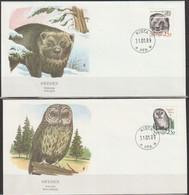 Schweden FDC 1989 Mi-Nr.1520 - 1521 Vielfraß, Habichtskauz ( D 5762) Günstige Versandkosten - FDC