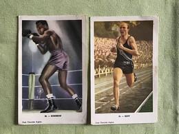 "2 PC  : Olymp. Kampioen 5.000 M GASTON REIFF - ROBINSON RAY ""SUGAR"" Wereldkampioen BOKSEN - BOXE - Unclassified"