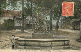 LUXEUIL LES BAINS PLACE DU COLLEGE FONTAINE NEPTUNE - Luxeuil Les Bains