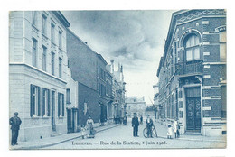 Lessen/Lessines,Rue De La Station 1 Juin 1908 - Lessines