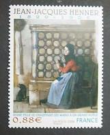 "Timbre Neuf France MNH 2008 : JJ Henner (1899-1905) ""Jeune Fille Se Chauffant Les Mains à Un Grand Poêle"" - Ongebruikt"