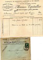 Facture  Marius Espitallier  Fabrique De Boissons Gazeuses Et Sirops à Gap  Haute Alpes - 1900 – 1949