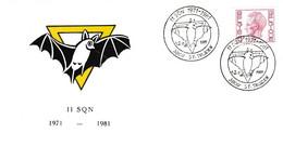 Enveloppe Elström 1646 II SQN St Truiden Aviation Airplane Aircraft Chauves-souris - Cartas