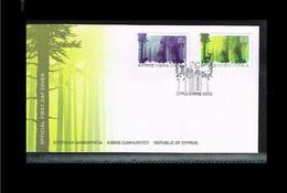 2011 - Europe CEPT FDC Cyprus Mi.1208-09A - Woods - Cancel Kibris [VT015] - 2011