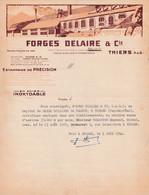 63 THIERS 1952 FORGES DELAIRE  Estampage De Précision   - X101 Puy De Dôme - 1950 - ...