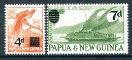 Papua New Guinea 1957 Pictorial Definitives Surcharge Set MNH (SG 16-17) - Papua Nuova Guinea