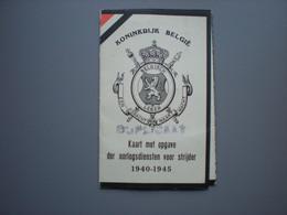 Paspoort Opgave Der Oorlogsdiensten - Astene - Deinze - Weerstand - Wereldoorlog - World War - 1939-45