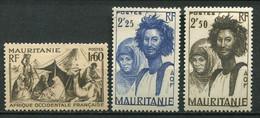 20786 MAURITANIE N°113/5*(MLH) Type De 1938    1939-46  B/TB - Unused Stamps