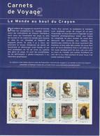 France Collector à -30% Sous La Faciale Carnets De Voyage Neuf ** 10 Timbres LP Faciale 12.8 - Collectors