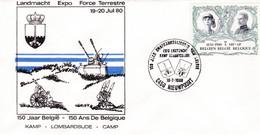 Enveloppe 1980 Landmacht Expo Force Terrestre Kamp Lombardsijde Camp Nieuwpoort - Cartas