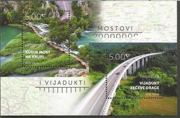 HR 2021-1499-500 BRIDGES, HRVATSKA CROATIA, S/S, MNH - Puentes
