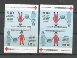 BH 2020 ZZ1 RED CROSS COVID-19, BOSNA AND HERZEGOVINA, 2X2v, MNH - Bosnien-Herzegowina