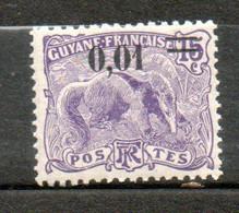 Colonie Française Guyane  Fourmilier 1922 N°91 - Nuovi