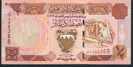 BAHRAIN P18b 1/2 DINAR 1998 UNC. - Bahrain