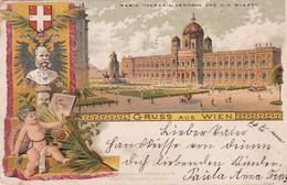 4838  110  Gruss Aus Wien, Maria Theresia Denkmal Und K.K. Museen 1899 - Ohne Zuordnung