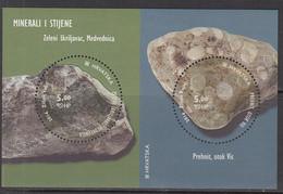 2014 Croatia Rocks & Minerals Geology Complete Souvenir Sheet MNH @ BELOW FACE VALUE - Croatie
