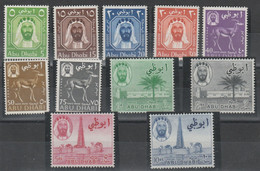 ABU DHABI - 575 ** 1965 - Pittorica Definitiva 11 Valori N. 1/11. MNH - Abu Dhabi