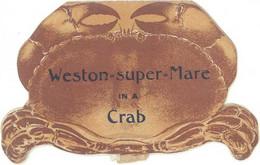 """Angleterre - Dépliant """" Crabe """" «  Weston Super Mare In A Crab « , Livret Dépliant à L'intérieur - Pubblicitari"""