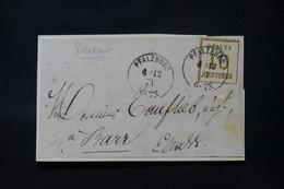 FRANCE / ALLEMAGNE - Devant De Lettre De Pfalzburg Pour Barr En 1871, Affranchissement Alsace Lorraine 10ct - L 86843 - Alsace Lorraine