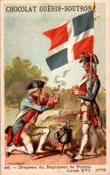 Chromo Ch. Guérin-Boutron Illus. Valiquet Flag Drapeau Du Régiment De Poitou Louis XVI 1775 Militaire Military N°46 TB.E - Guérin-Boutron
