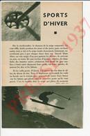 5 Vues Photos Presse 1937 De Raoul Doucet Photographe à Megève Sports D'Hiver Publicité Pharmacie Larcade Tarbes 241/21 - Sin Clasificación