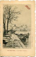CPA - VIEUX PARIS - LE QUAI D'ANJOU (DESSIN FRAIPONT) - De Seine En Haar Oevers