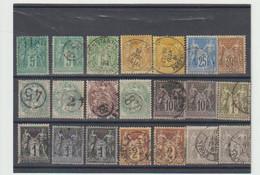 "TIMBRES De FRANCE     ""   TYPE SAGE  "" - 1876-1898 Sage (Type II)"