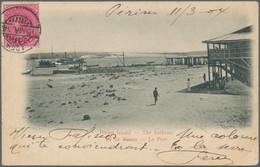 "Aden: 1904 PERIM Island: Picture Postcard (Perim Island) Dated ""Perim 11/3 04"" Posted ""ADEN/15 MA. 0 - Yemen"