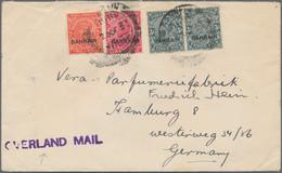 "Bahrain: 1937 ""OVERLAND MAIL"" Cover From Bahrain To Hamburg, Germany Via Basra And Baghdad, Franked - Bahrein (1965-...)"