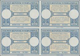 Birma / Burma / Myanmar: 1947/1958. Lot Of 2 Different Intl. Reply Coupons (London Type) Each In An - Myanmar (Birma 1948-...)