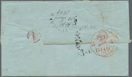 "Ceylon / Sri Lanka: 1849 ""PUSILAWE POST-.../(p.p./12 Jan.ry 1849)"" Circled H/s In Black With ""p.p."" - Sri Lanka (Ceylon) (1948-...)"
