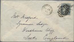 Ceylon / Sri Lanka: 1885 28c. On 32c. Slate Used On Cover From Nuwara Eliya To Leeds, England Via Co - Sri Lanka (Ceylon) (1948-...)