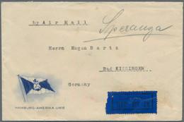 Ceylon / Sri Lanka: 1928, Airmail Cover Of The Hamburg-Amerika Linie Addressed To Bad Kissingen, Ger - Sri Lanka (Ceylon) (1948-...)
