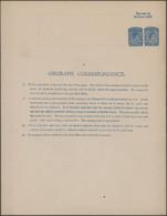 Ceylon / Sri Lanka: 1944 (ca.), Unused Postal Stationery Airgraph KGVI 10 Cents Blue On Cream With F - Sri Lanka (Ceylon) (1948-...)