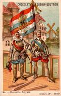Chromo Ch. Guérin-Boutron Illus. Valiquet Flag Drapeau Cornette Royale Henri IV 1590 Militaire Military N°24 En TB.Etat - Guérin-Boutron