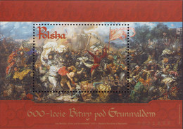 "Poland 2010 Mi Block 195 O ""The Battle Of Grunwald"" - Painting By Jan Matejko 1410 MNH** - Ongebruikt"