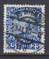 Austria Perfin Perforé Lochung 'L.B.' 25 H Franz Joseph Deluxe WIEN 1910 Cancel !! (2 Scans) - Errores & Curiosidades