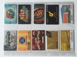 HOTEL : H081 10 GAMING CASINO CARDS AS PICTURED USED - Tarjetas De Casino