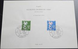 SAARLAND 1958 Mi-Nr. 439/40 Gedenkblatt - 1958