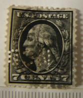 Perf. Car. 12. Perforé, Perfin NCD Georges Washington, 7 Cents Y&T N°184. - Perforados