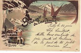 CPA  SOUVENIR  DU LEMAN  N° 185 - VD Waadt