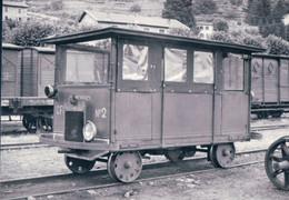 France 07, Chemin De Fer Du Vivarais, Draisine D'Inspection Au Cheylard, Photo 1962, BVA CFD 577.12 - Stations With Trains