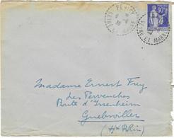 1939 / Cachet Pointillé Fericy / 77 Seine Et Marne / Exp Vienot Frey à Fericy Clos Briard - 1921-1960: Modern Period