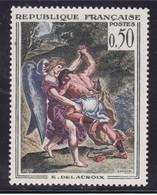 Rouge Décalé Sur Les Membres Sur  N° 1376, Delacroix ( 2101/1254) - Curiosités: 1950-59 Neufs