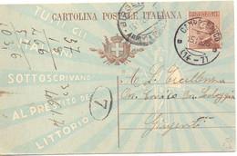 1926 Cartolina Postale Da 40c  Da Campofranco Per Girgenti - Entero Postal