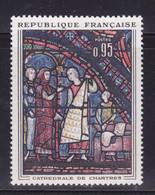 Taches Blanches Sur Vitrail Sur  N° 1399( 2101/13.3) - Curiosités: 1950-59 Neufs