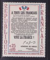 Rouge Décalé, Voir Drapeaux  Sur  N° 1408( 2101/13.6) - Curiosités: 1950-59 Neufs