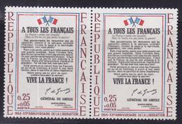 Rouge Décalé, Voir Drapeaux  Sur  N° 1408( 2101/14.1) - Curiosités: 1950-59 Neufs
