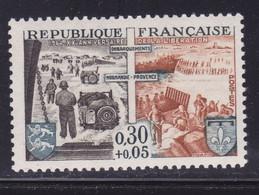Ombre Sur Provence Et Blason,   Sur  N° 1409( 2101/14.2) - Curiosités: 1950-59 Neufs