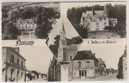 D37 - NOIZAY - Chateaux/Eglise/Rues/Café De La Gaieté - CPSM Dentelée Multivues (5 Vues) En Noir Et Blanc - Other Municipalities